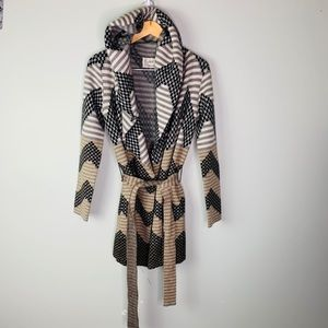Anthropologie wool hooded sweater size small